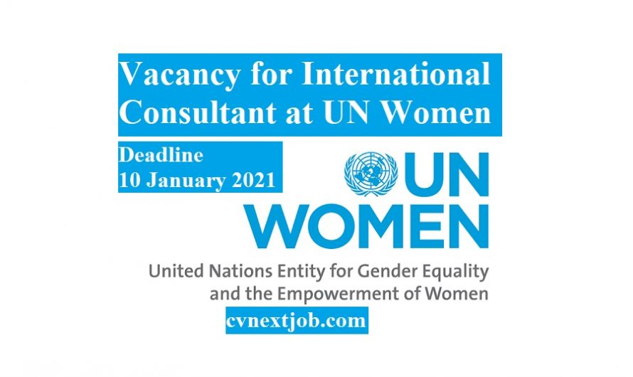 Vacancy for International Consultant at #UN #Women in the #USA