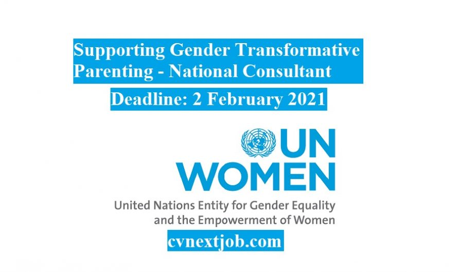 Job vacancy/ Supporting Gender Transformative Parenting – National Consultant at #UN Women ( #Cairo, #Egypt)