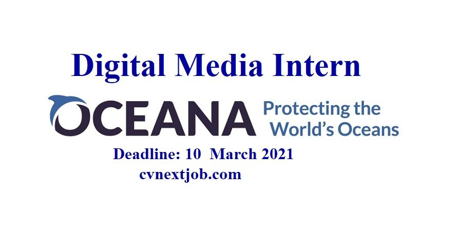 Call for Applications/ Digital Media Intern at Oceana/ ( #Brussels, #Belgium) ( #Madrid, #Spain) ( #Remote, #Denmark)