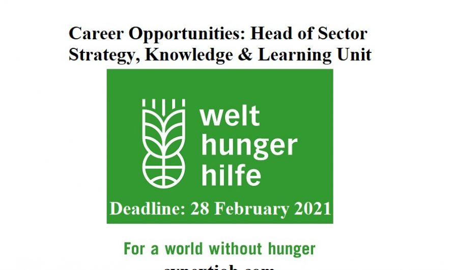 Career Opportunities: Head of Sector Strategy, Knowledge & Learning Unit  at Welthungerhilfe ( #Bonn, #Germany)