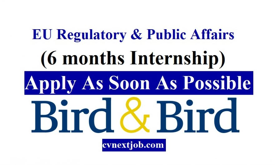 Job vacancy/ #EU Regulatory & Public Affairs (6 months Internship) at Bird & Bird  ( #Brussels, #Belgium )