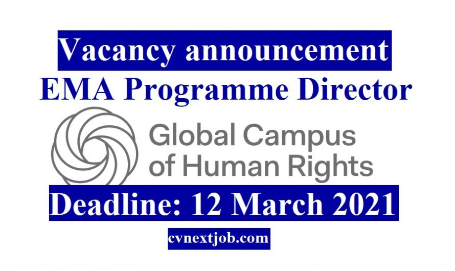 Vacancy announcement: EMA Programme Director  at Global Campus of Human Rights ( #Venezia, #Italy)