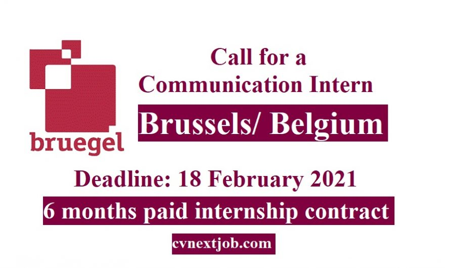 Communication Intern job in #Brussels/ #Belgium at Bruegel