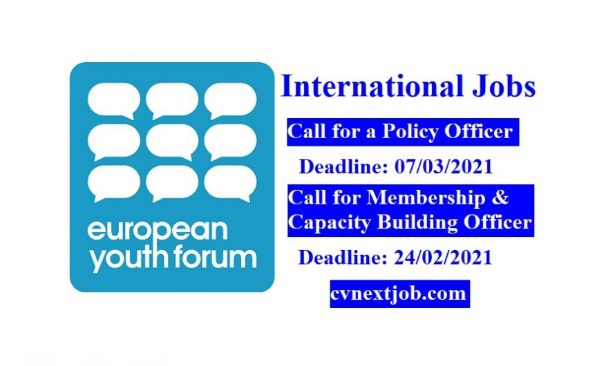 Careers at European Youth Forum ( #Brussels, #Belgium)