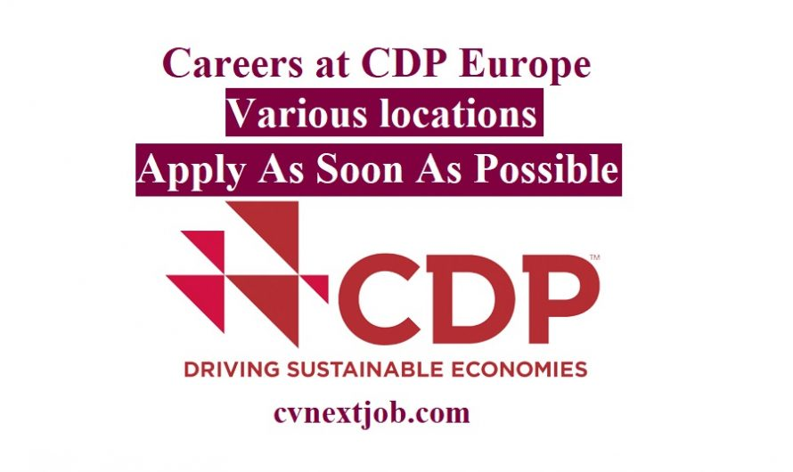 Call for Applications/ Careers at CDP Europe/ Various locations