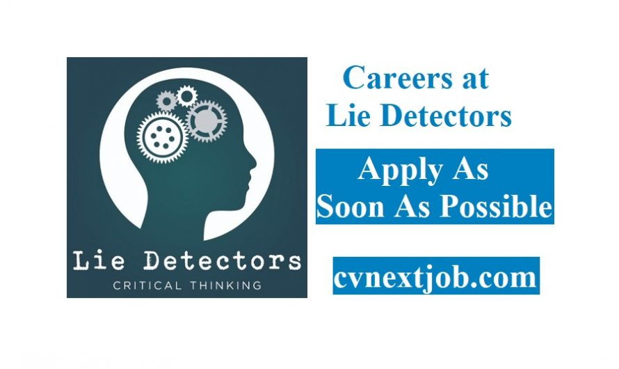 Call for Applications/ Careers at Lie Detectors/ (#Brussels, #Belgium)