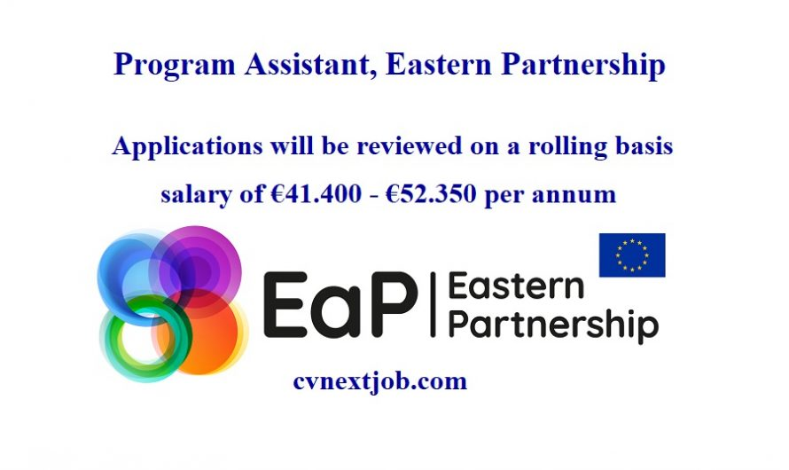 Job vacancy/ Program Assistant, Eastern Partnership  ( #Brussels, #Belgium)