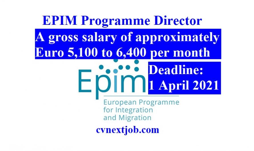 Job vacancy/ EPIM Programme Director at European Programme for Integration and Migration ( #Brussels, #Belgium)