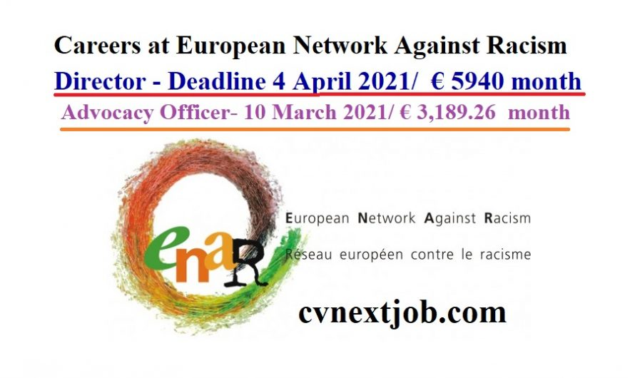 Call for Applications/ Careers at European Network Against Racism