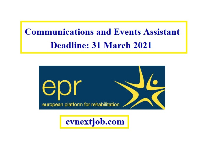 Call for Applications:  European Platform for Rehabilitation EPR is looking for a Communications and Events Assistant