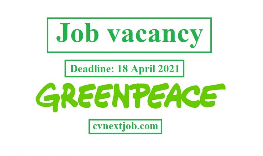 #Greenpeace is recruiting an EU ECONOMIC ADVISER based at our European unit in #Brussels/ @GreenpeaceEU