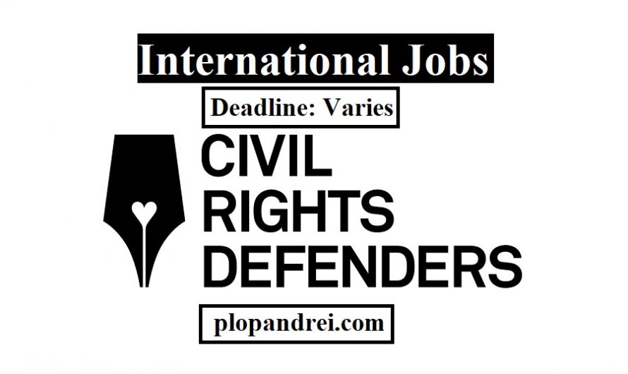Call for Applications/ Careers at Civil Rights Defenders/ Various locations